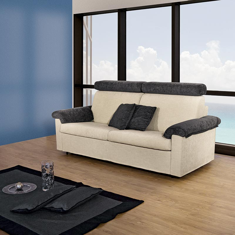 divano letto elegante, elegant sofa bed, beach house sofa bed