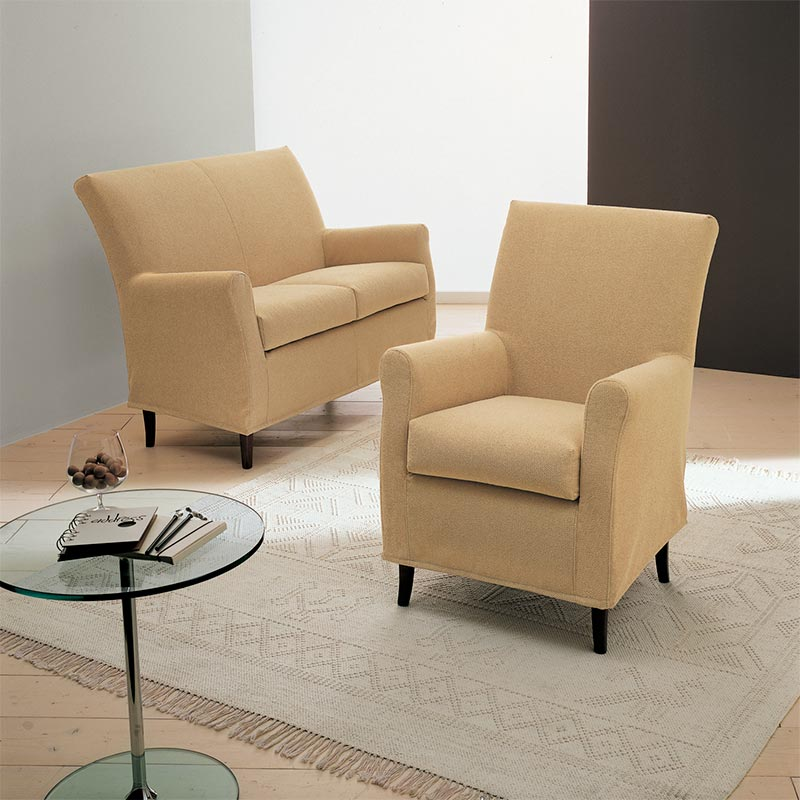 poltrona sfoderabile, two seats loveseat